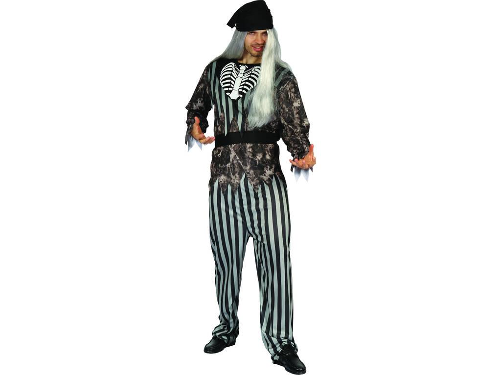 Disfarce Pirata Malvado Homem Tamanho M