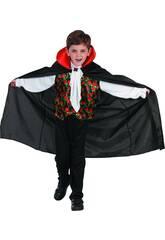 Disfraz Vampiro Rosas Niño Talla XL