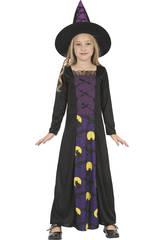 imagen Disfraz Bruja Buhos Niña Talla XL