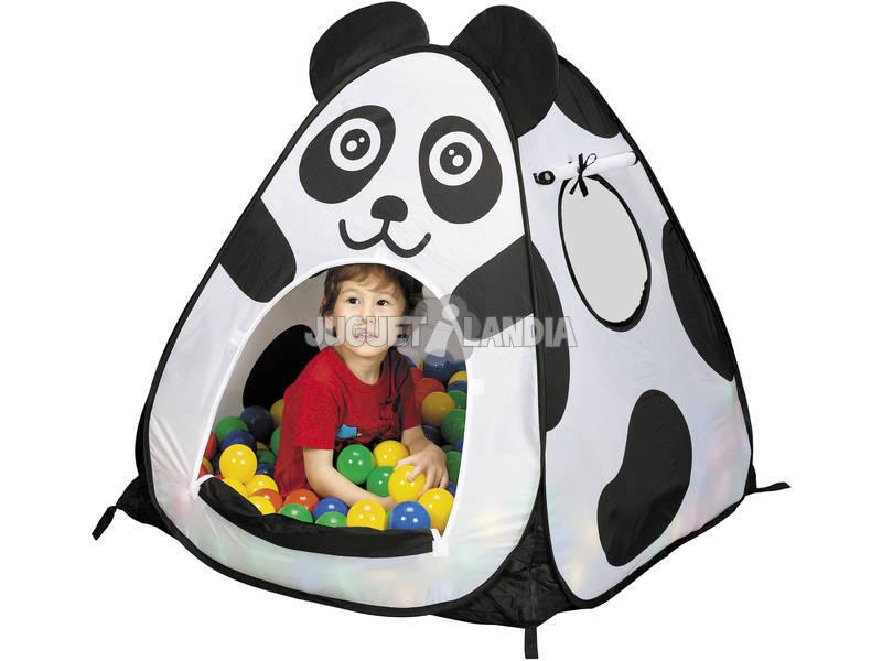 Une maisonnette triangulaire ours Panda avec 100 boules