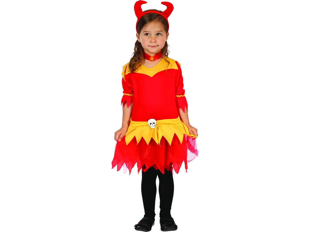 Disfraz Demonia Llamas Bebé Talla S