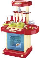 Cucina giocattolo con luci e suoni 31 pezzi