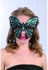 Maschera Glitter Farfalla Verde