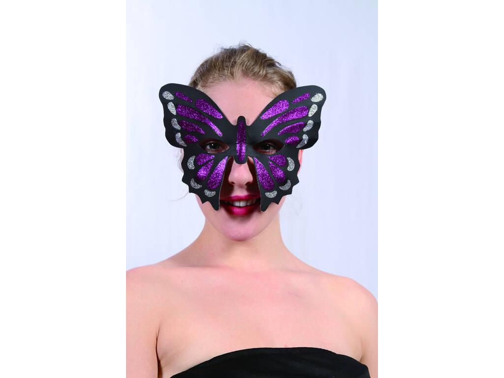 Maschera Glitter Mariposa lilla
