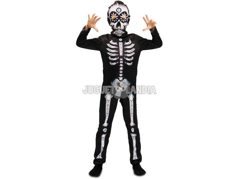 Fantasia S Menino Esqueleto Dia dos Mortos