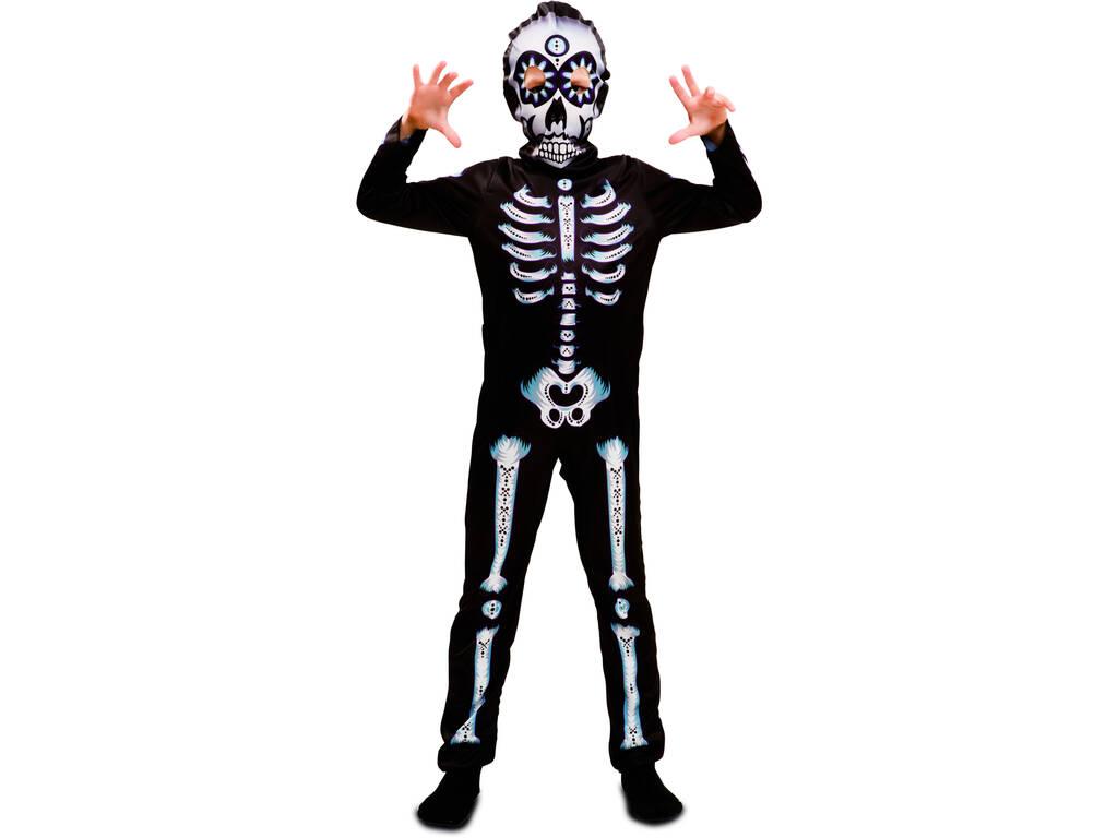 Disfarce Menino L Esqueleto Dia dos Mortos