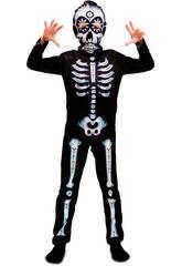 Disfraz Niño L Esqueleto Dia de los Muertos