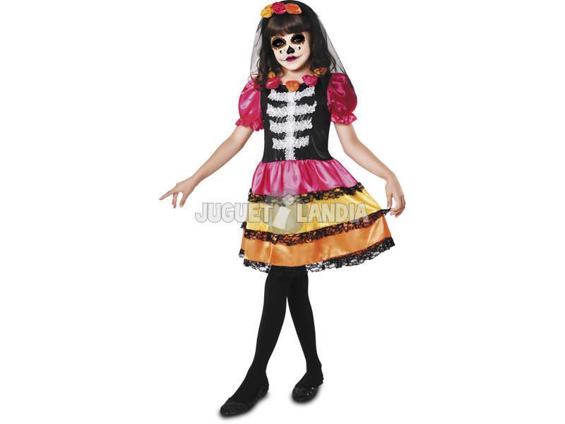 Fantasia Menina M Catrina Esqueleto