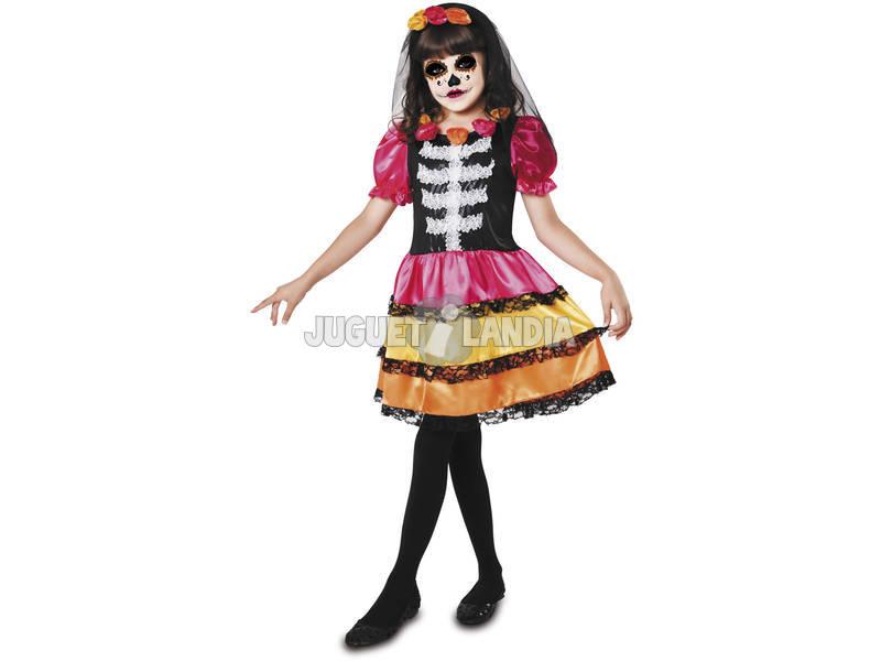 Disfraz L Niña Catrina Esqueleto