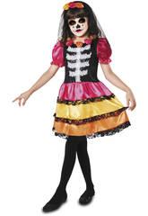 imagen Disfraz XL Niña Catrina Esqueleto