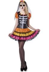 imagen Disfraz S Mujer Catrina Esqueleto