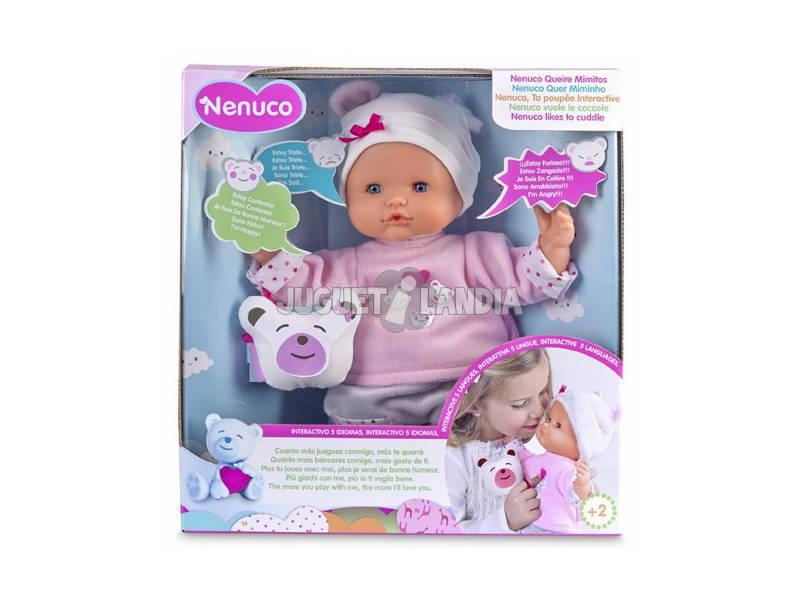 Boneco Nenuco Quer Mimos 32x10cm Famosa 700013105