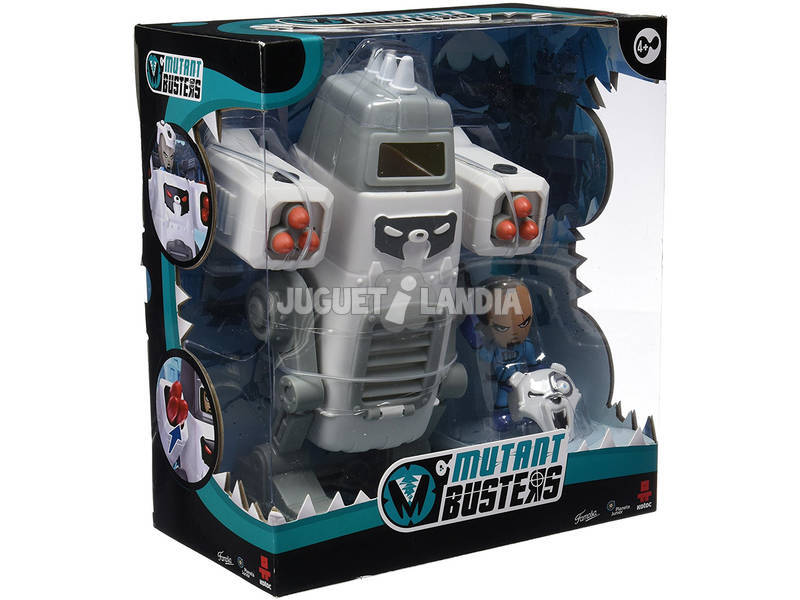 Figura Mutant Busters Metal Ice 23x16cm y David Snow 6x4cm Famosa 700012151