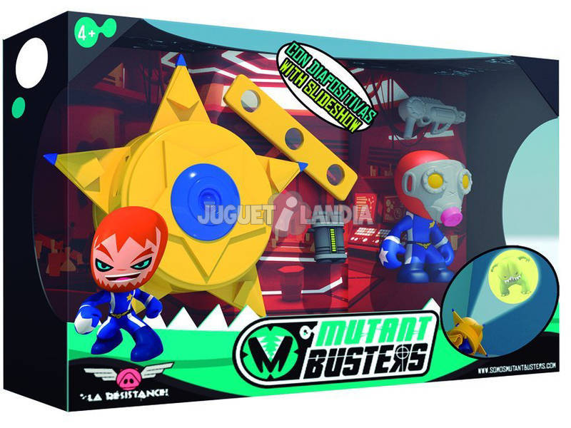 Figura Mutant Busters Sheriff Com Placa Projector Famosa 700012965