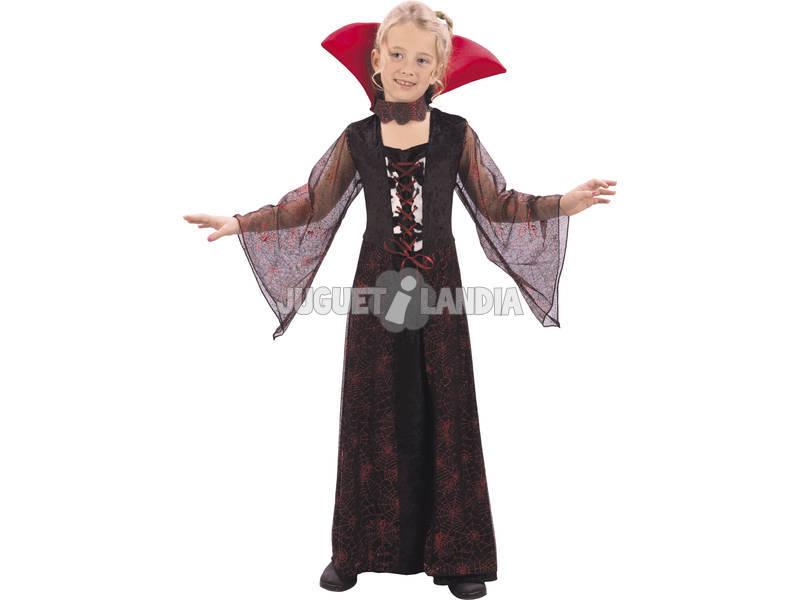 Disfraz Vampiresa Roja Niña Talla S