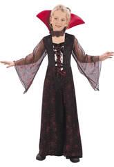 Maschera Vampiressa Rossa Bambina Taglia S