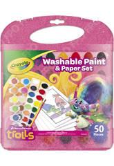 Trolls Kit Pintura Lavable Crayola