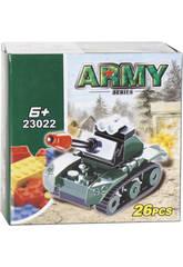 imagen Juego de Construcción Tanque Militar 26 Piezas