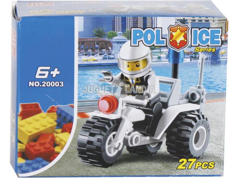 Juego de Construcción Moto de Policía de 27 Piezas