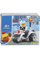 imagen Juego de Construcción Moto de Policía de 27 Piezas