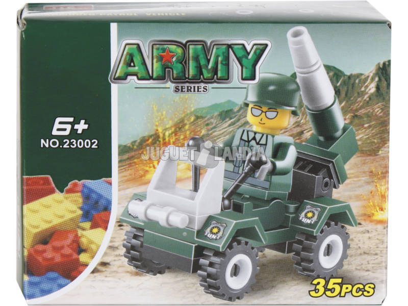 Gioco di costruzione Automobile Militare con Lanciarazzi de 35 pezzi