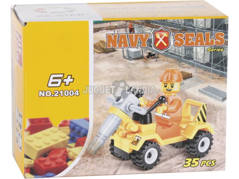 Vehículo Construcción con Perforadora 35 piezas