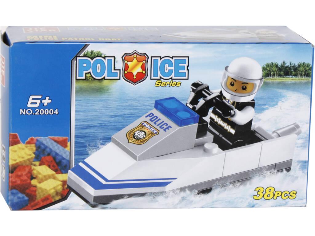 Juego de Construcción Moto de Agua Policia 38 Piezas