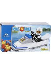 Moto Agua Policia 38 piezas