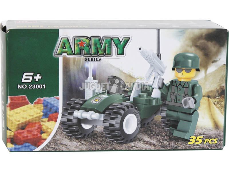Juego de Construcción Vehículo Militar Con Figura 35 Piezas