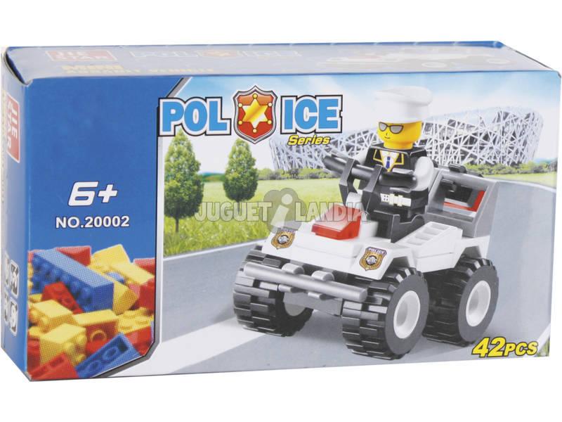 Jogo de Construção Quad de Polícia 42 Peças