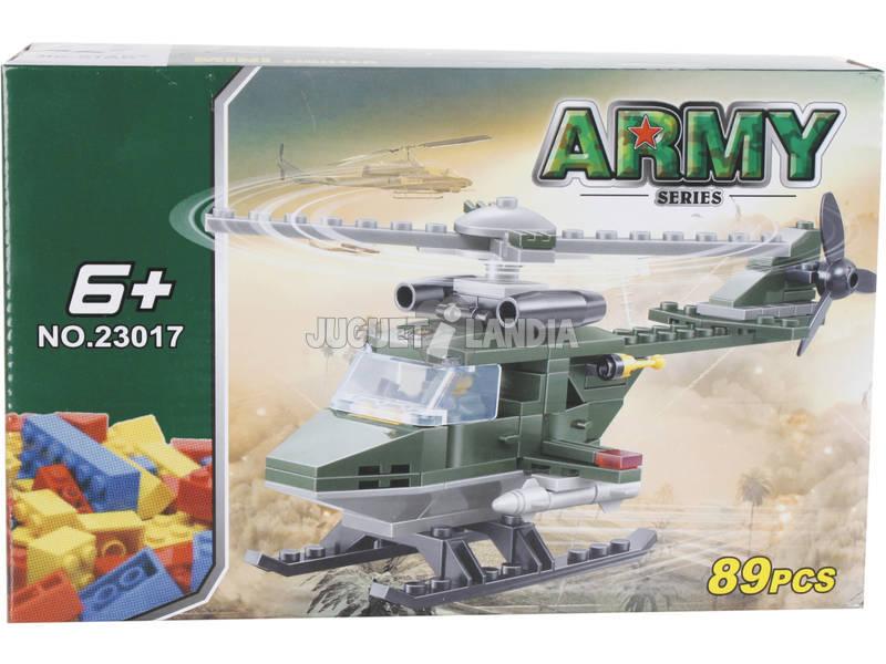 Juego de Construcción Helicóptero Militar 89 Piezas