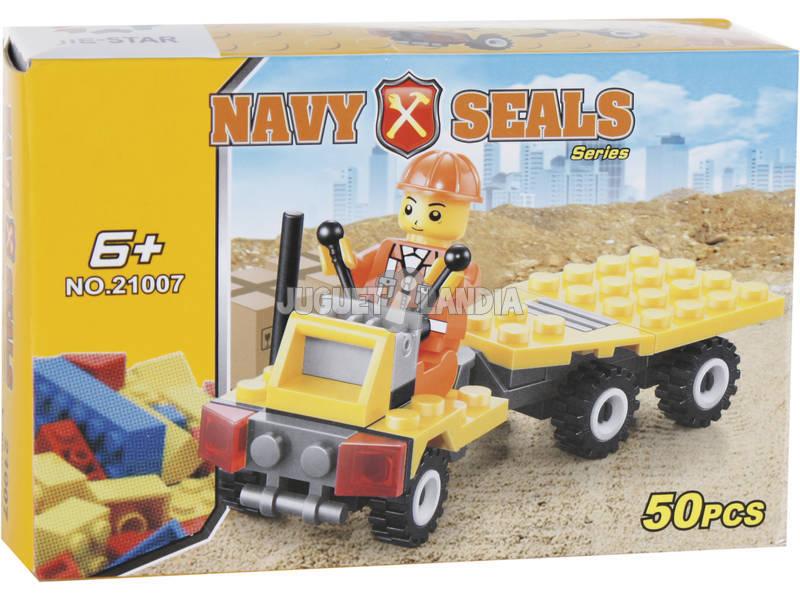 Vehículo Costrucción con Remolque 50 piezas