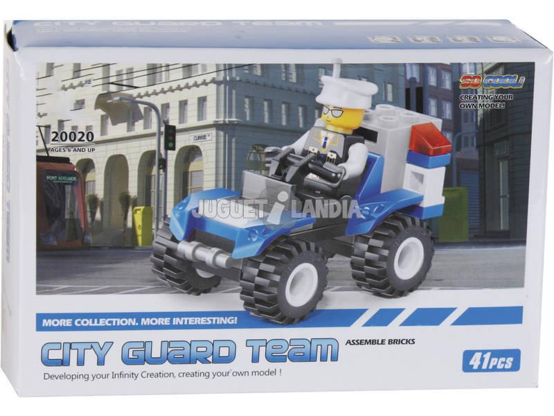 Jogo de Construção Veículo de Polícia 41 Peças
