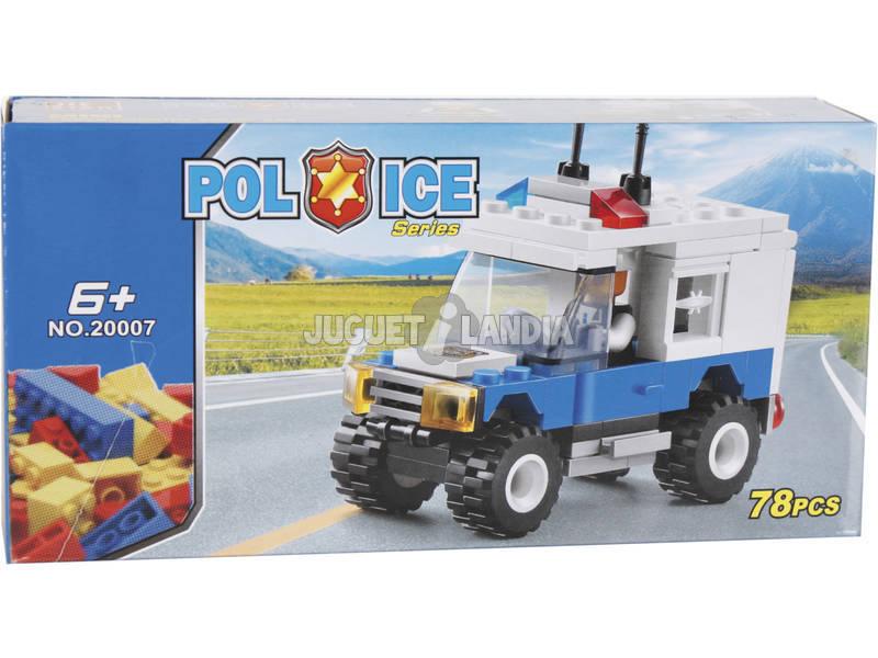 Jogo de Construção Todoterreno Polícia 78 Peças