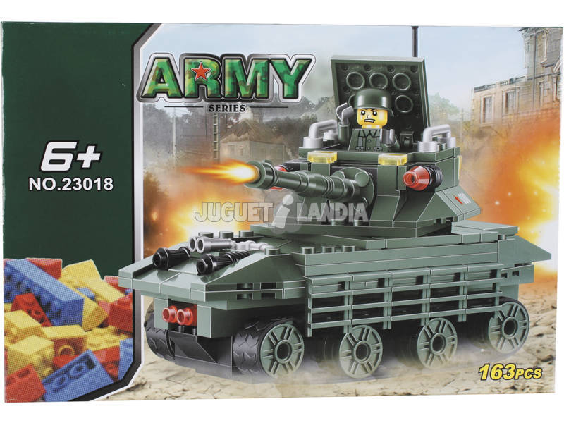 Juego de Construcción Tanque Militar de 163 Piezas