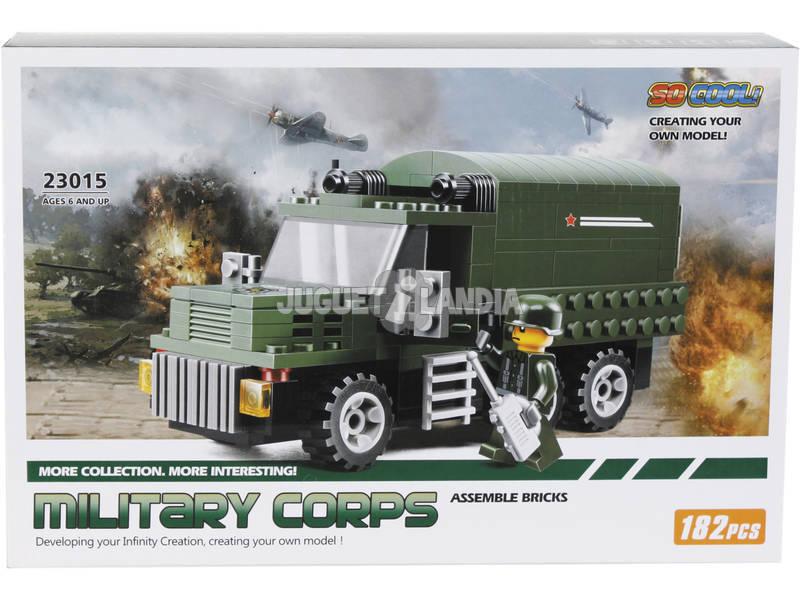 Jogo de Construção Camião Militar de 182 Peças