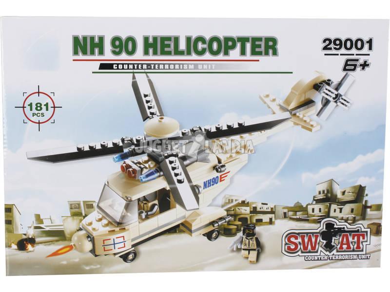 Jogo de Construção Helicóptero Militar NH 90 181 Peças