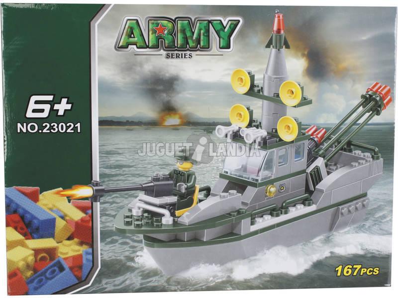 Gioco di costruzione Army Nave da Guerra de 167 pezzi