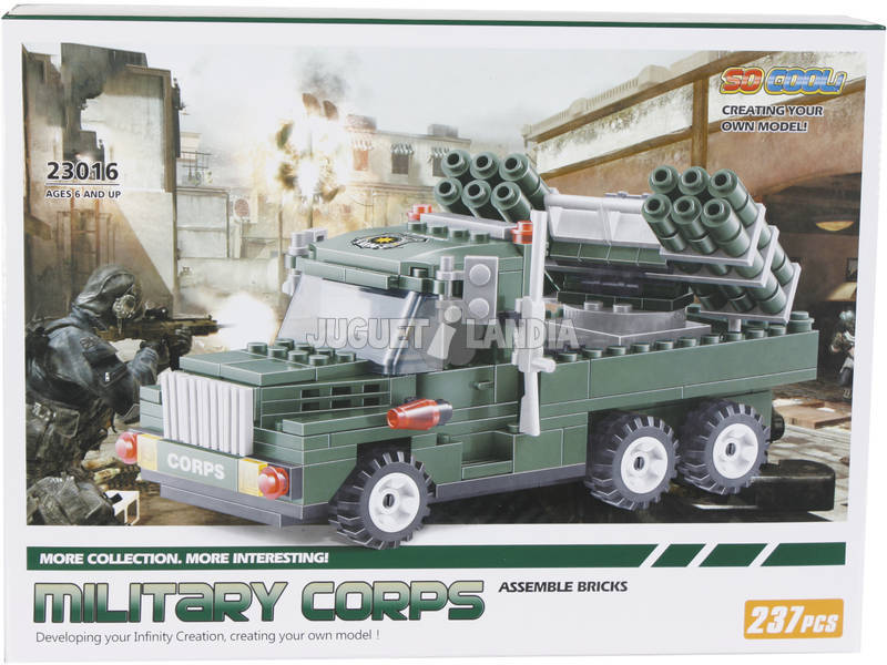 Juego de Construcción Vehículo Militar Lanzamisiles 237 Piezas
