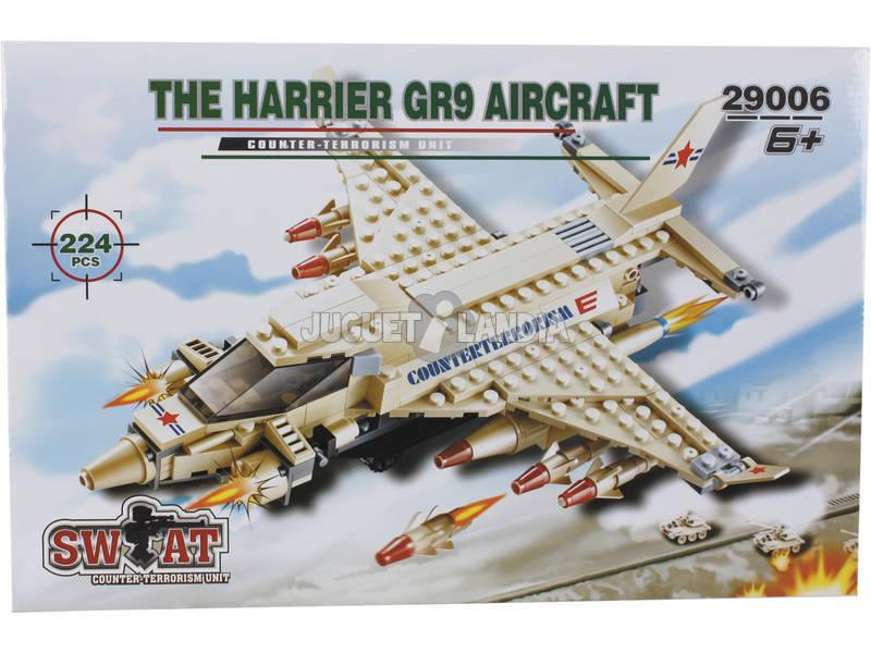 Gioco da COstruzzione Aareo Militare Harrier GR9 224 Pezzi