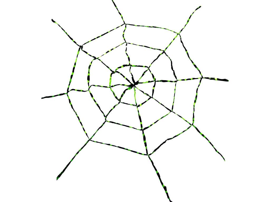 Teia de Aranha Verde - Negra 150x150 cm.