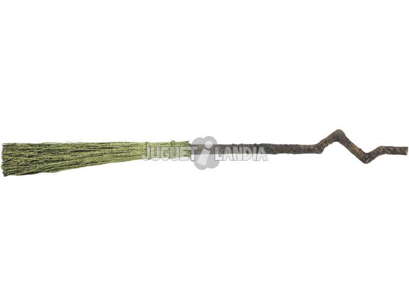 Vassoura Bruxa Verde 92x12x12 cm.