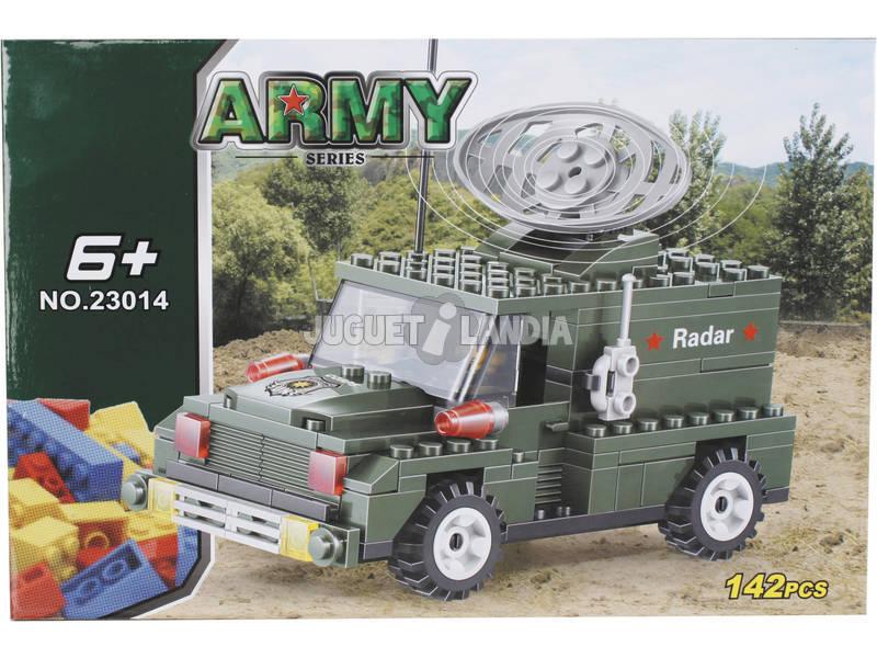 Juego de Construcción Vehículo Militar Radio 142 Piezas