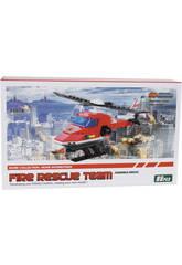 Hélicoptère Pompiers 86 Pièces