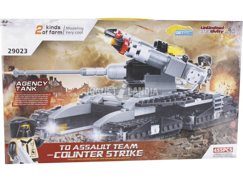 Juego de Construcción Tanque Militar 2 en 1 de 455 Piezas