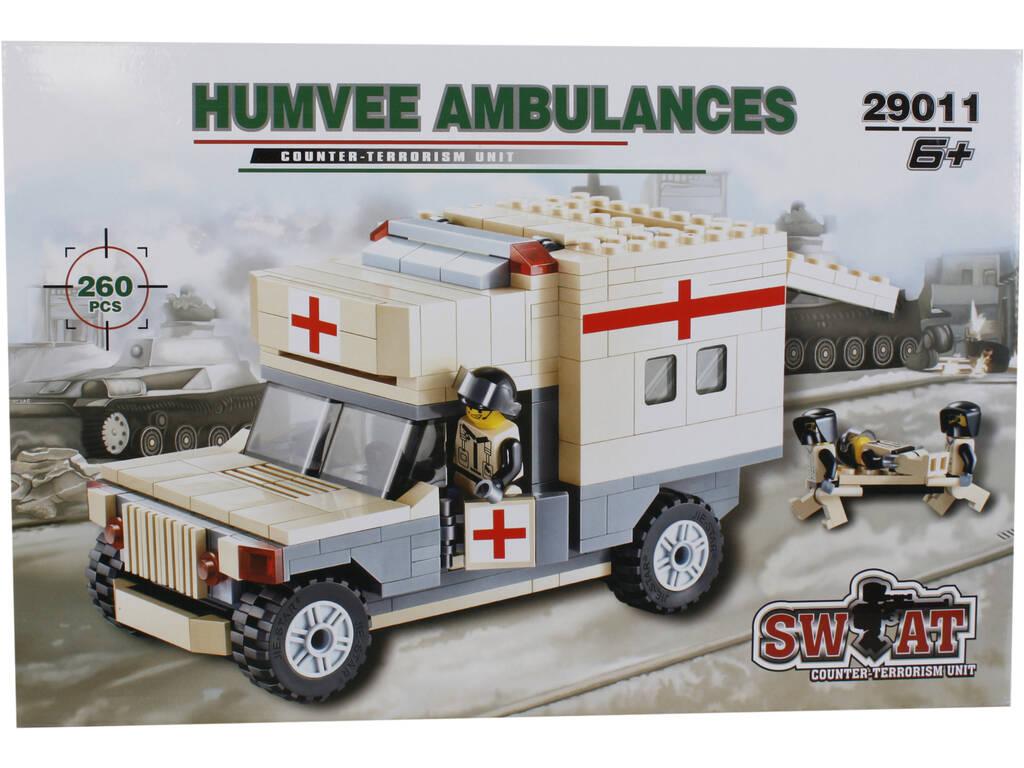 Juego de Construcción Ambulancia Militar de 260 Piezas