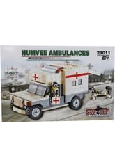 imagen Juego de Construcción Ambulancia Militar de 260 Piezas