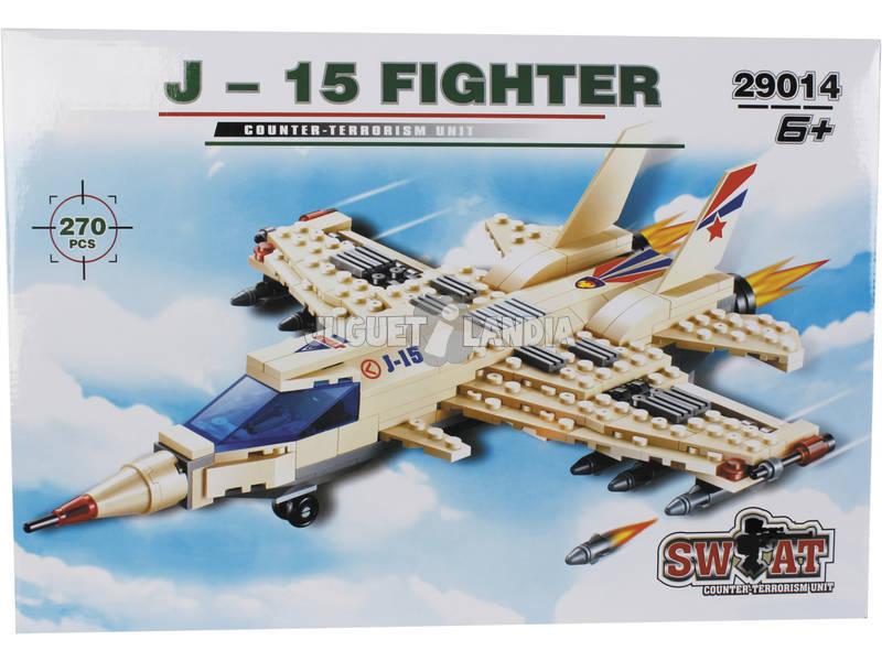 Jogo de Construção Avião Militar J - 15 270 Peças