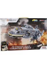 Juego de Construcción Avión Militar de Transporte 631 Piezas