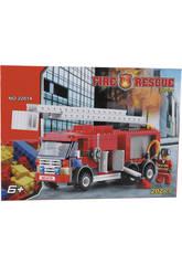 Gioco di costruzione Camion Pompieri 202 pezzi